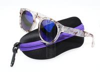 Illesteva Sunglasses Brand Vintage round Brazil 2015 oculos de sol feminino Men Fashion glasses Women eyeglass 7color