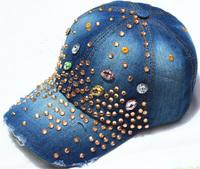 Retail 2015 Free Shipping Hot Sale Ladies Brand Baseball Cap Sun-shading Hat Male Women's Summer Sun Hat Cap Casual denim Cap