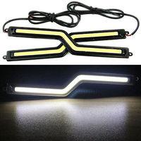 2pcs/lot LED COB Z Shape Car DRL Driving Daytime Running Lamp Fog Light White  12V