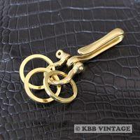 Solid Brass Fishhook Keychains Keyholder M High-quality Vintage Designing ! #6