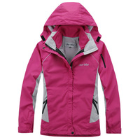 2015 Brand women waterproof windproof two pieces set outdoor jacket hiking skiing jacket outdoor coat sportswear