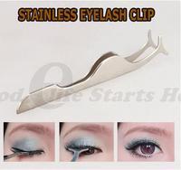 Hot Sale 1pcs False eyelash curler clip stainless steel Eye Lash  Applicator Beauty Makeup Cosmetic Tool Drop Shipping