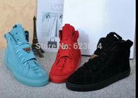 Patrick Mohr  High Top Men Sneakers Fashion Genuine Leather suede lace up  Hip Hop Men Shoes