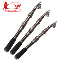 Promotion! 2.4m Carbon Fishing Rod Pole With Hollow Out Metal Reel Seat Telescopic Fishing Tackle Rod Fly Carp Lure Fishing Rod