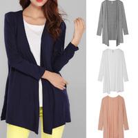 The Newest High Quality European Simple& Basic Style Cotton Cardigan Blouse/XL-XXXXL PLUS SIZE/Tops