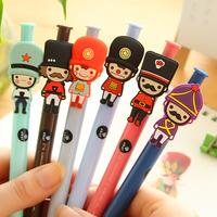 Excellent Pai Korea stationery wholesale  cute soldier soldier pressed 0.5mm black gel pen creative pen