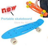 "New Portable Penny Board 22"" Complete Penny Skateboard Plastic Mini Skate Longboard Retro Cruiser long skate board"