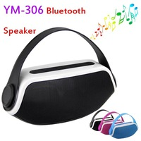 Mini Bluetooth Speaker YM-306 Speakers Portable Subwoofers with Handle 2200mAh Battery Mic Wireless Hands-free for Smartphone