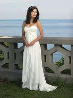2015 New Vintage Sweetheart White Ivory Wedding Dress Chiffon Bride Dresses Lace-up Back In Stock Vestidos De Noiva