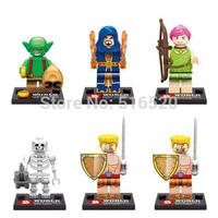 Clash Of Clans Minifigures 6pcs/lot SY261 Figures Building Blocks Sets Model Bricks Toys For Children Lego Compatible