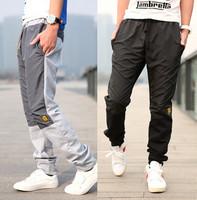 S-XXL/ 2015 New  Men's Outdoors Sports Training Pants Fashion Pants Embroidered  Sweatpants Men Jogger Pants Trousers
