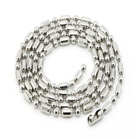 Black and Silver Tone Stainless Steel Bamboo Chains Jewelry .Ball Bead Chains for Necklaces accessories Wholesale
