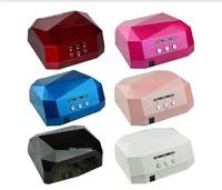36W LED Light CCFL Nail Dryer Diamond Shaped Best Curing Nail Art Lamp Care Machine for UV Gel Nail Polish EU Plug