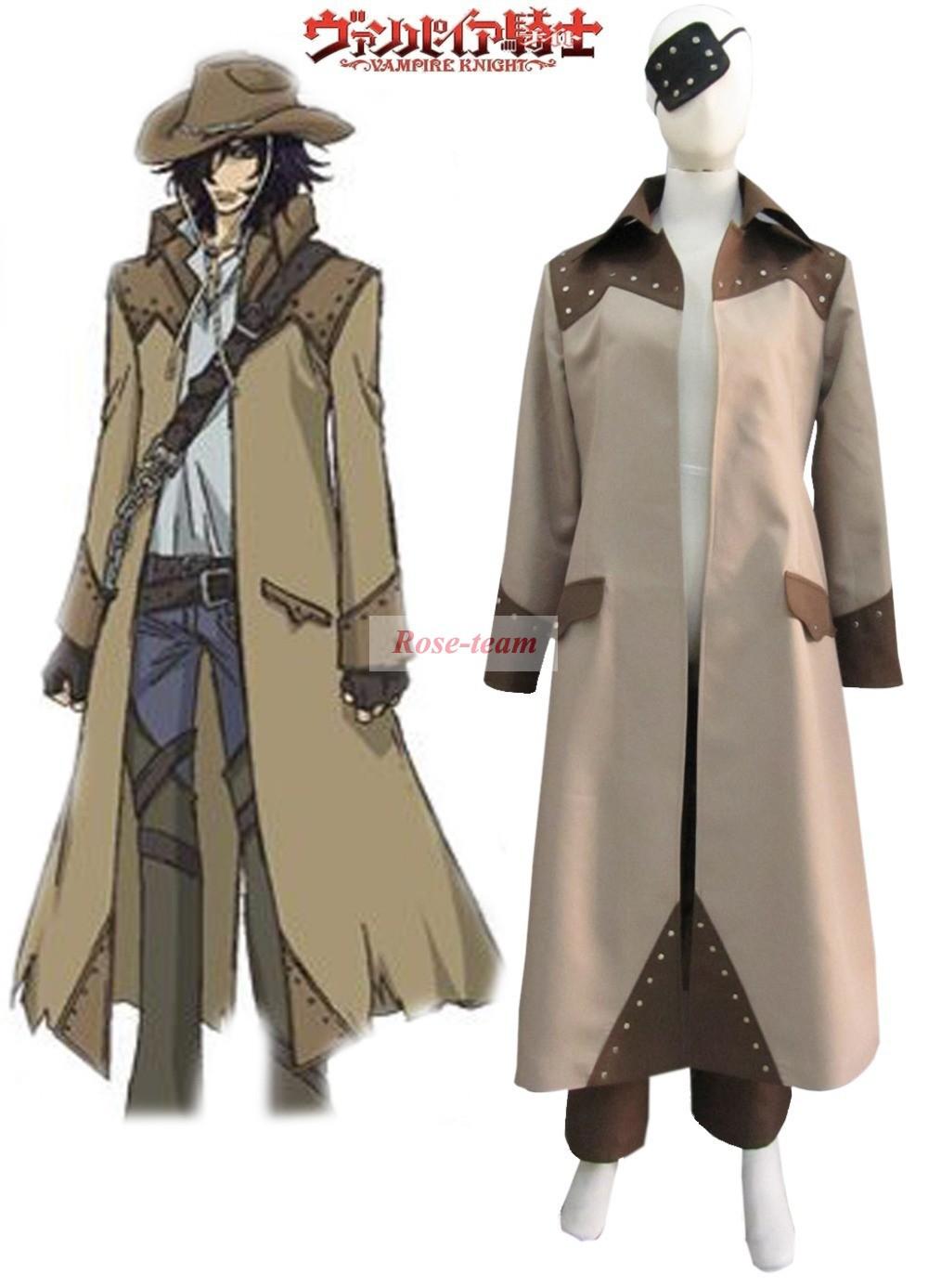 SunShine-Vampire Knight Vampire Hunter Toga Yagari Overcoat Anime Cosplay Costumes(China (Mainland))