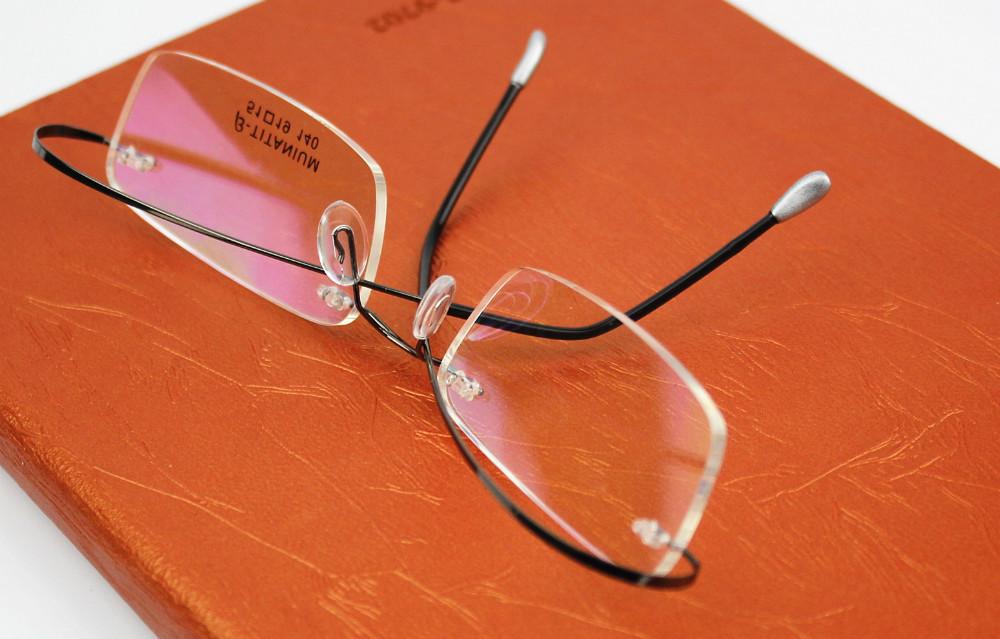 b69d243ed26 ... к 2015 году новых титана марки силуэт очки кадр очки мужчины женщины с  оригинальной случае oculos ...