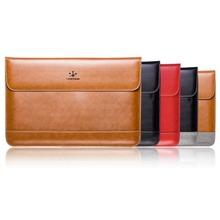 Lention cassa del manicotto di sacchetto di cuoio genuino per macbook air 11 pollice copertura di alta qualità con il bottone magnetico cinque colori  (China (Mainland))