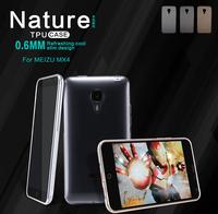 Freeshipping Original FNILLKIN TPU Case For MEIZU Mx4 Nature TPU Case 0.6MM Refreshing Cool Slim Design