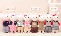 1 pair 2015 new product 34cm plush toys Metoo 2 pieces tiramisu rabbits doll children's gifts toys plush doll free shipping