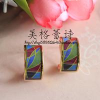 FREY Ode to Joy Gold Enamel Earrings Enamel highest quality