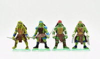 2015 Sale Teenage Mutant Ninja Turtles Action Figures 4PCS/Set 10CM PVC Cool TMNT Movie Collection Toys  Best Gift Free Shipping
