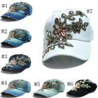 wholesale 2015 fall fashion Denim Baseball cap Sports Hat cap canvas Snapback caps hat for women good quality