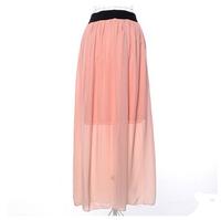 Europe style 2015 new fashion summer women chiffon long skirts Plus Size DQ133