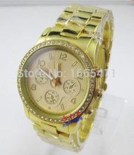 Hombres mujeres acero inoxidable de señora Quartz de moda para mujer reloj exacto del cuarzo de pulsera Micheael ~ kors relojes de cuarzo del diamante 007