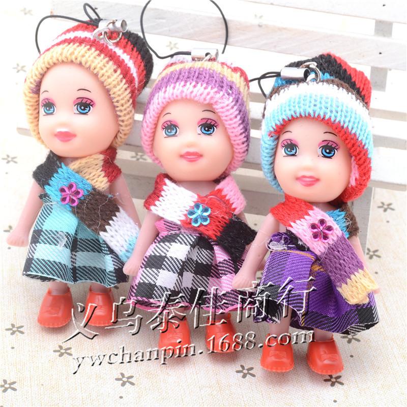 Supply plush stuffed Poliphili wear a scarf pendant pendant hanging plush fall and winter selling plush pendant(China (Mainland))