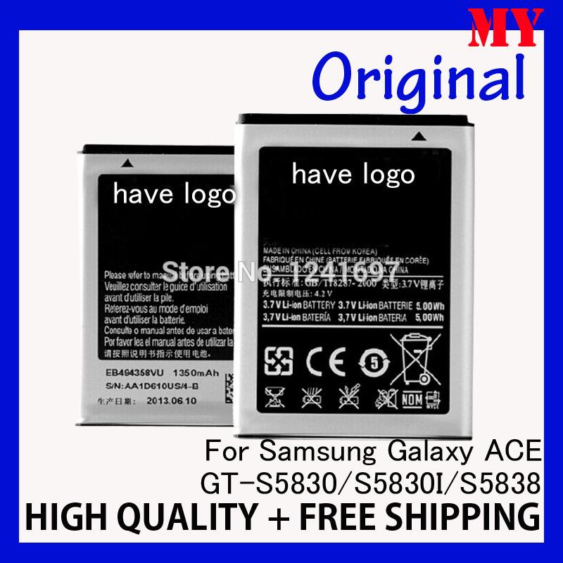 original EB494358VU 1350mAh Battery For SAMSUNG Galaxy ACE S5830 S5830I i569 i579 s5670 S5838 s5660 I619 S6102 batterie battery(China (Mainland))