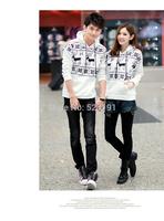 Free Shipping 2015 New Women hoodies Couples dress classic deer