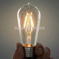 2015 10pcs E27 4W 6W 8W Bombillas AC110-220V COB LED Bulb Edison Christmas Lights Home Lighting Ultra Bright LED Filament Bulbs