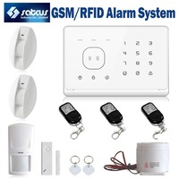 Intercom GSM Home Alarm System Security Wireless Touch Panel With RFID Tags Android APP  Curtain PIR Motion Detect SG-333