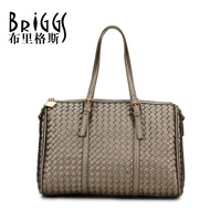 BRIGGS Brand 2015 European and American Style Knitting PU Leather Women Handbag Famous Brands Casual Bag Women Messenger Bags
