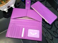 2015 Sweet Lady Cowhide Money Clips Genuine Leather Women Standard Wallets Female Detachable Purse In Pink/Purple/Black
