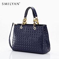Smilyan women genuine leather bolsas femininas fashion bag messenger bags famous brands handbag designer handbags high quality