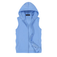 In 2015 the new, fashionable pure salad chain sleeveless hooded vest