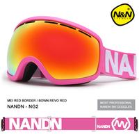 New Brand Sports Ski Goggles Double Lens Anti-fog Big Spherical Professional Ski Glasses Unisex Multicolor Snow Goggles Snow NG2