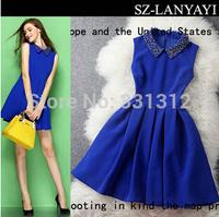 Custom made, Korean supplier Latest Design, High quality competitive price Women Dress