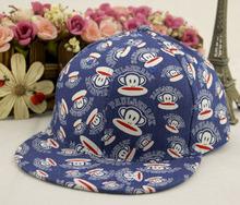 2014 New Brand Design Monkey Print Baby Baseball Cap Children Hip Hop Hat High Quality Boy & Gilr