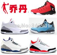 Original 2015 China Jordan's Basketball Shoes for Men Retro 3 White Black True Cement Grey Blue 3 Fire Powder Red Sneakers