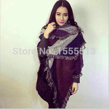 [해외]scarf  women bufandas winter plaid brand scarves cape..