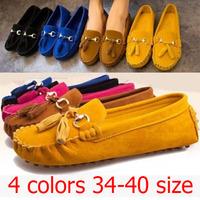 New 2015 Women Flats Shoes Nubuck Leather Tassel Platform Pu Slip Shose Maternity Sandal Black Sapatos Femininos Shoe Moccasins