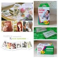 20Pcs Fujifilm Instax Mini film for Instant Camera mini 8 7s 25 50s 90 White Edge 3 inch film Photo Paper