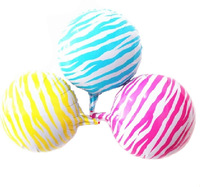 Free shipping!! 3pcs/lot 18inch zebra-stripe balloon foil cartoon balloon party supplies