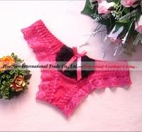 Sample Order Sexy Lingerie Lace Gauze Underwear Women Briefs Pant G-Strings & Thongs #4907