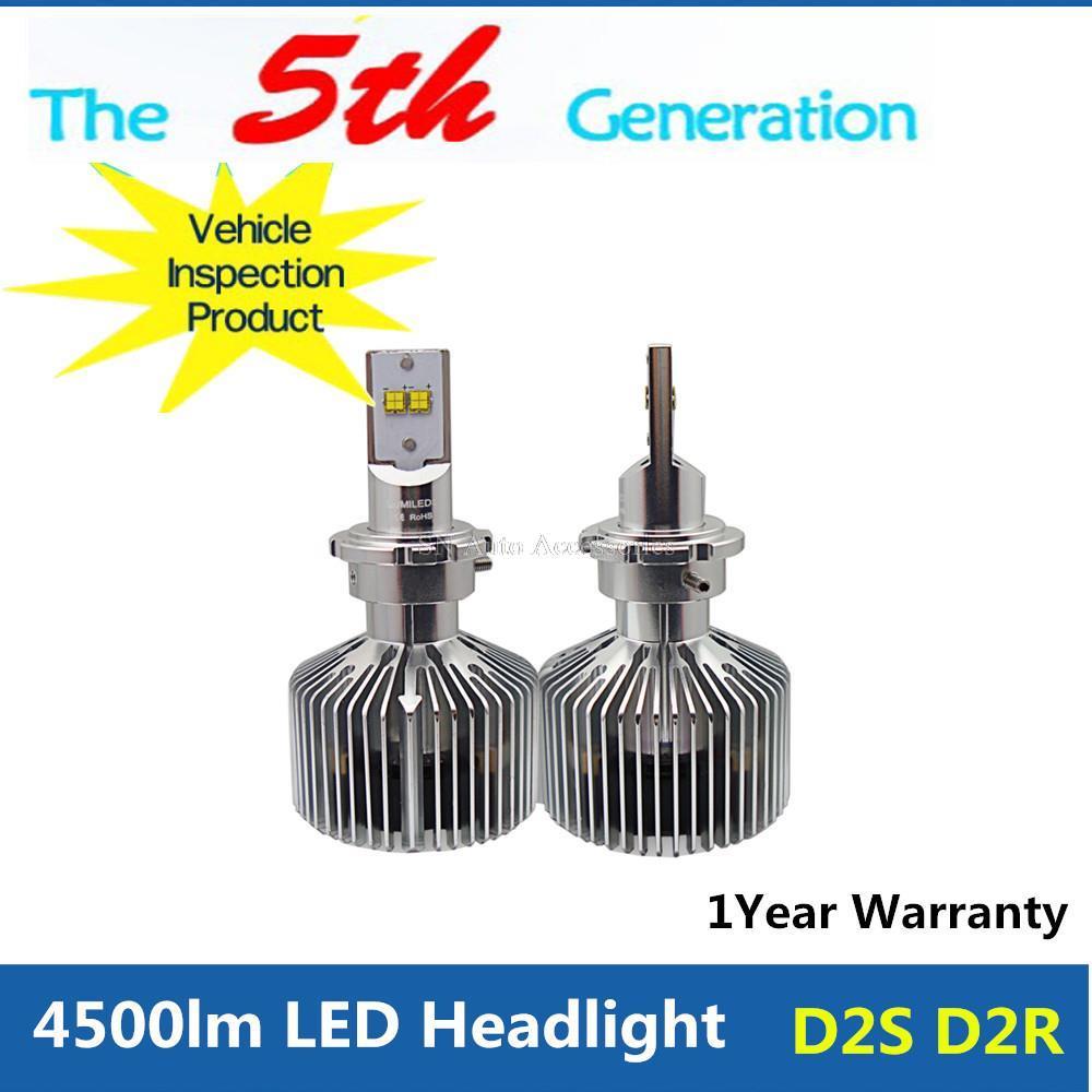 1Set 9000lm D2S D2R LED Bulb Auto Headlight Driving DRL Lamp Super White(China (Mainland))