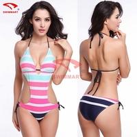 2015 QUEEN Popular One-piece Women Ladies Sexy Beach Wear Swimwear Halter Summer Bikini Swimsuit VS-007