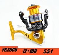 2015 YB2000 12+1BB Spinning Fishing Reel Saltwater Carretilha Pesca High Quality For Shimano Fishing