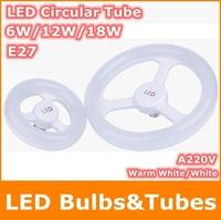 6W 12W 18W AC220V E27 SMD2835 LED Circular Tube Warm White LED circle Ring lamp bulb light