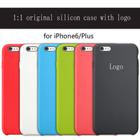 2014 New fashion Elegant luxury 1:1 original copy Ultra slim Silicon case cover with logo for apple iphone 6 4.7inch/Plus 5.5